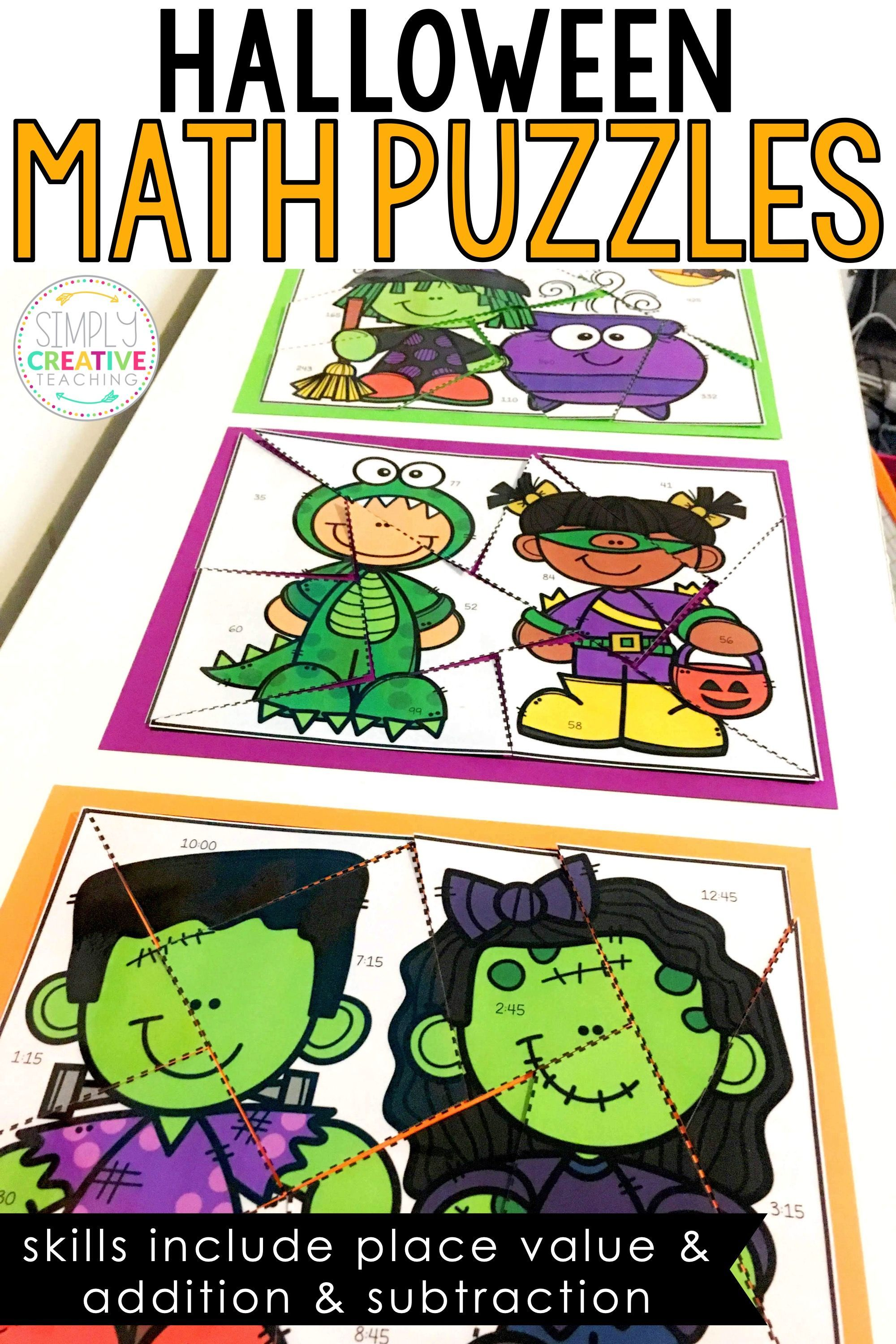 Math Puzzles For Halloween