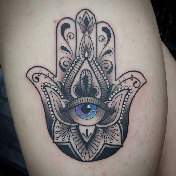 Hand Of Fatima Tattoo: Hamsa Tattoo Designs That We Have Put Together For You