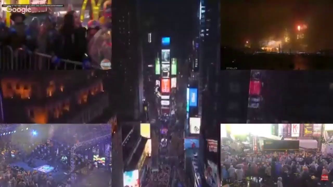 Live Times Square Ball Drop All Country Fireworks New Year S
