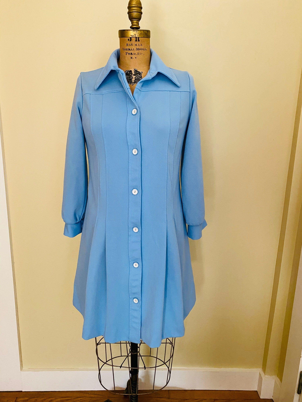 Vintage Sears Fashions Blue Polyester Dress Polyester Etsy In 2021 Polyester Dress Shirt Dress Fashion [ 3000 x 2250 Pixel ]
