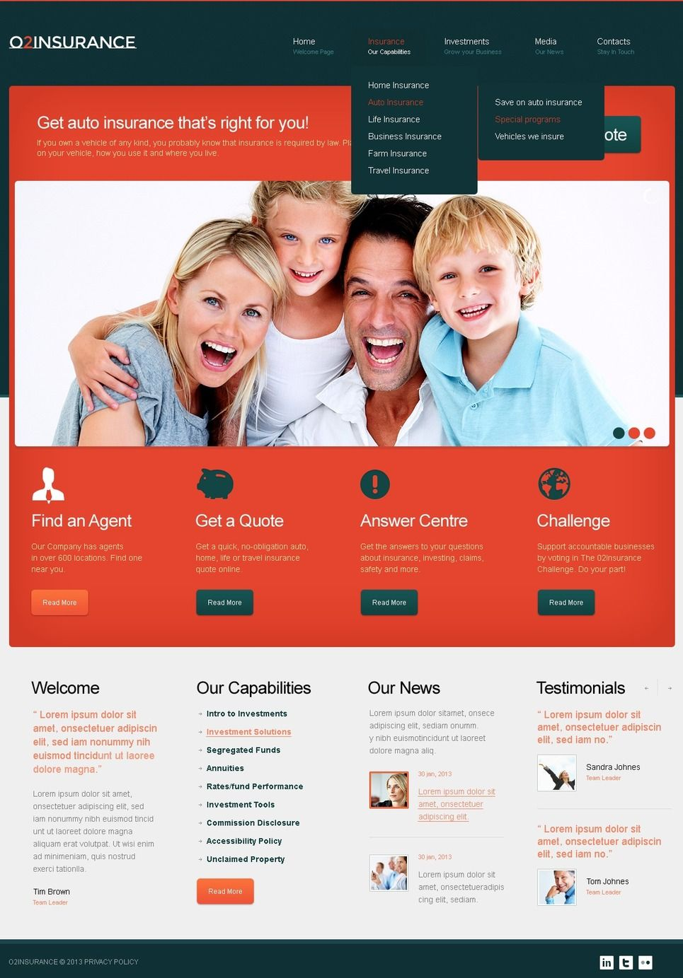 Insurance Website Template 42054 Insurance Website Website