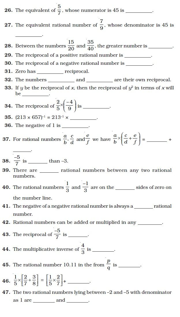 Rational Numbers Rational Numbers Math Worksheet Number Worksheets