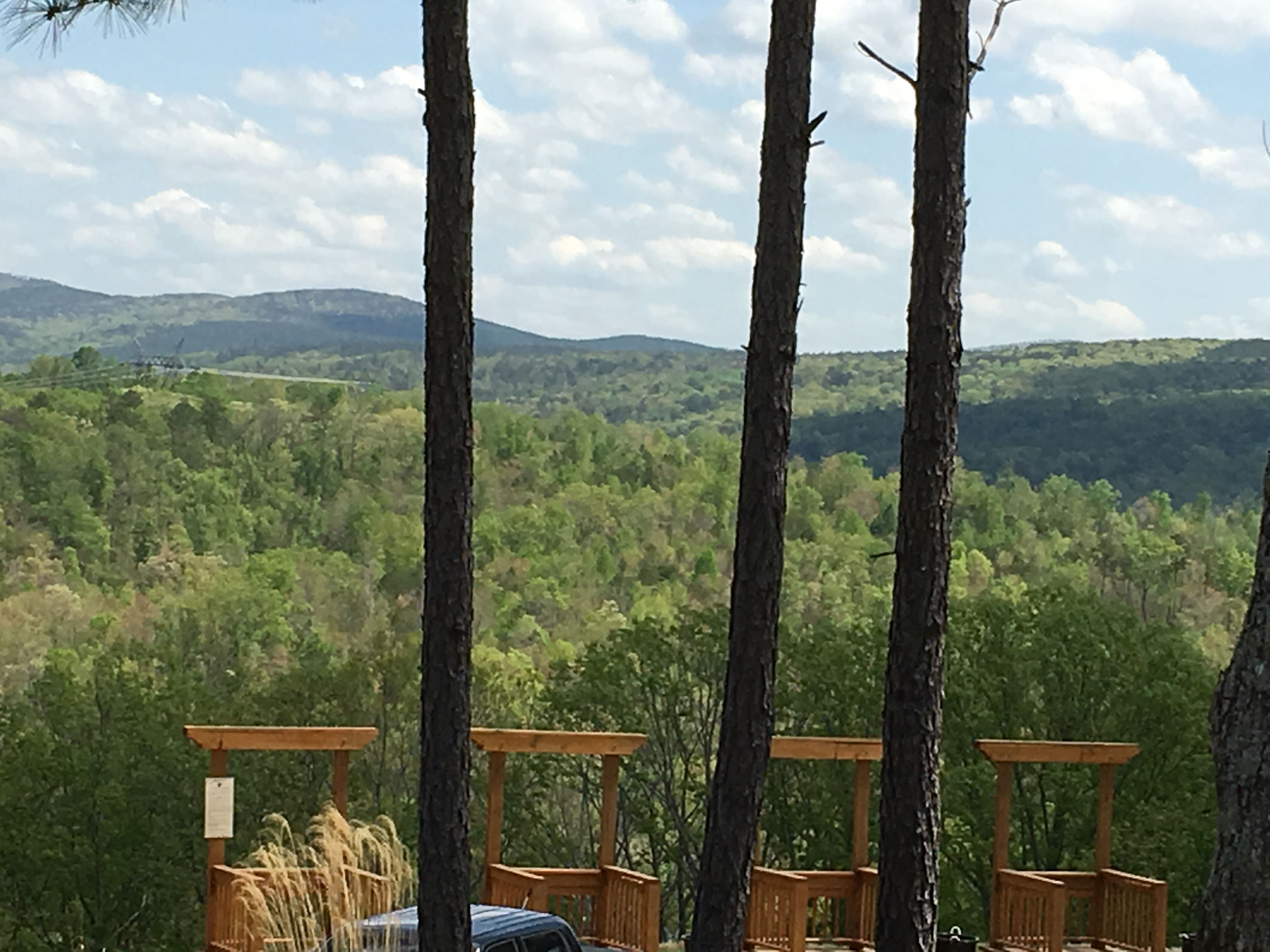 A peek at the five stand at Garland Mountain Sporting