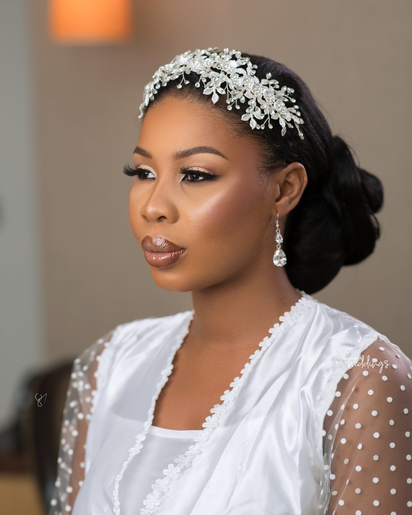 Veronica Konadu S White Wedding In Accra Was All Shades Of Lit Hair Styles Bridal Hair Inspiration Bridal Hair Pieces