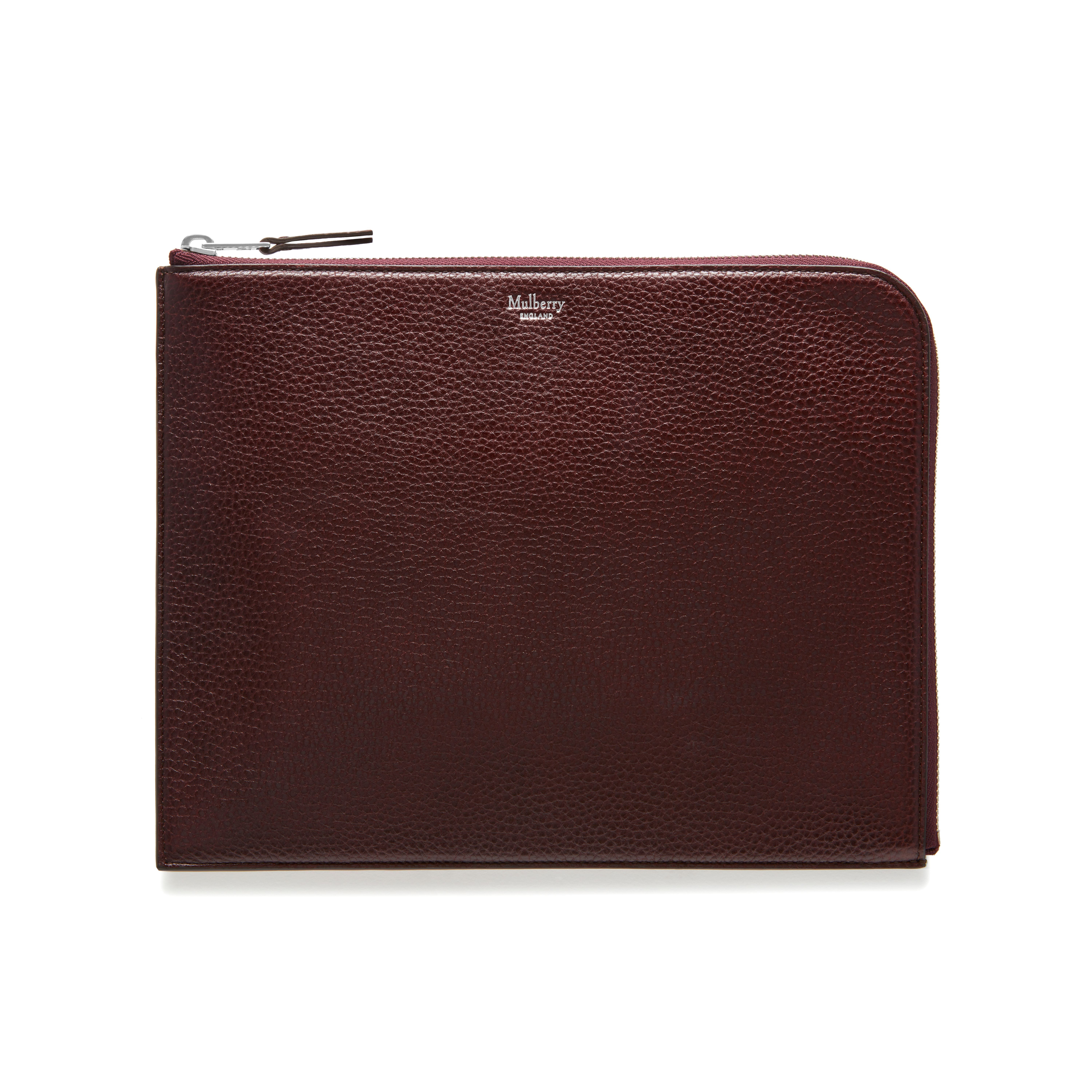 b00aef798eb5 Shop the Tech Pouch in Oxblood Natural Grain Leather at Mulberry.com. Stay  organised with this practical zipped Tech Pouch
