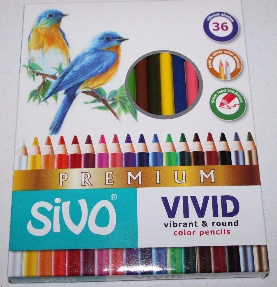 Sivo Vivid Premium Colored Pencils Box Set Of 36 Colors 4mm Lead - Premium-color-pencils