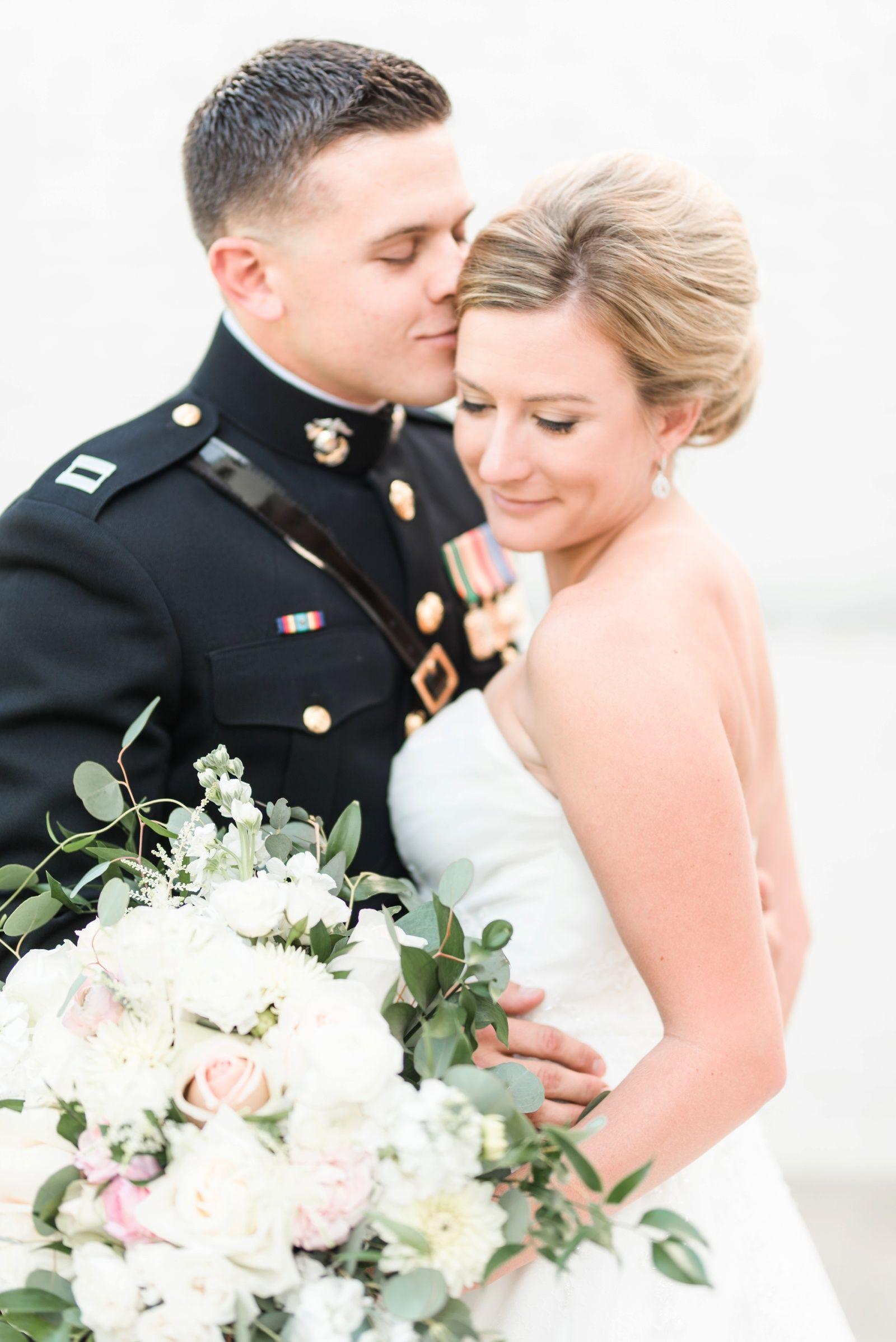 Military timeless wedding virginia museum of contemporary art