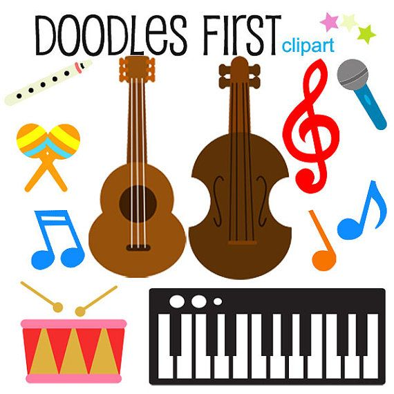 musical instruments clipart digital clip art for scrapbooking card rh pinterest com musical instruments clip art images musical instruments clip art black and white