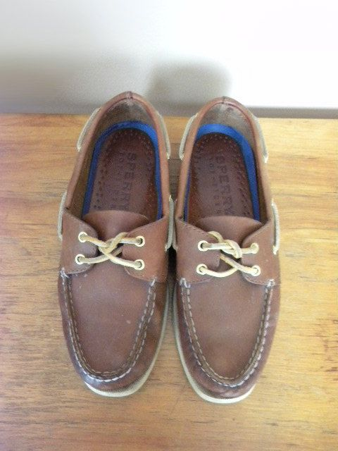 90s Sperry Topsider UNISEX size 8 brown