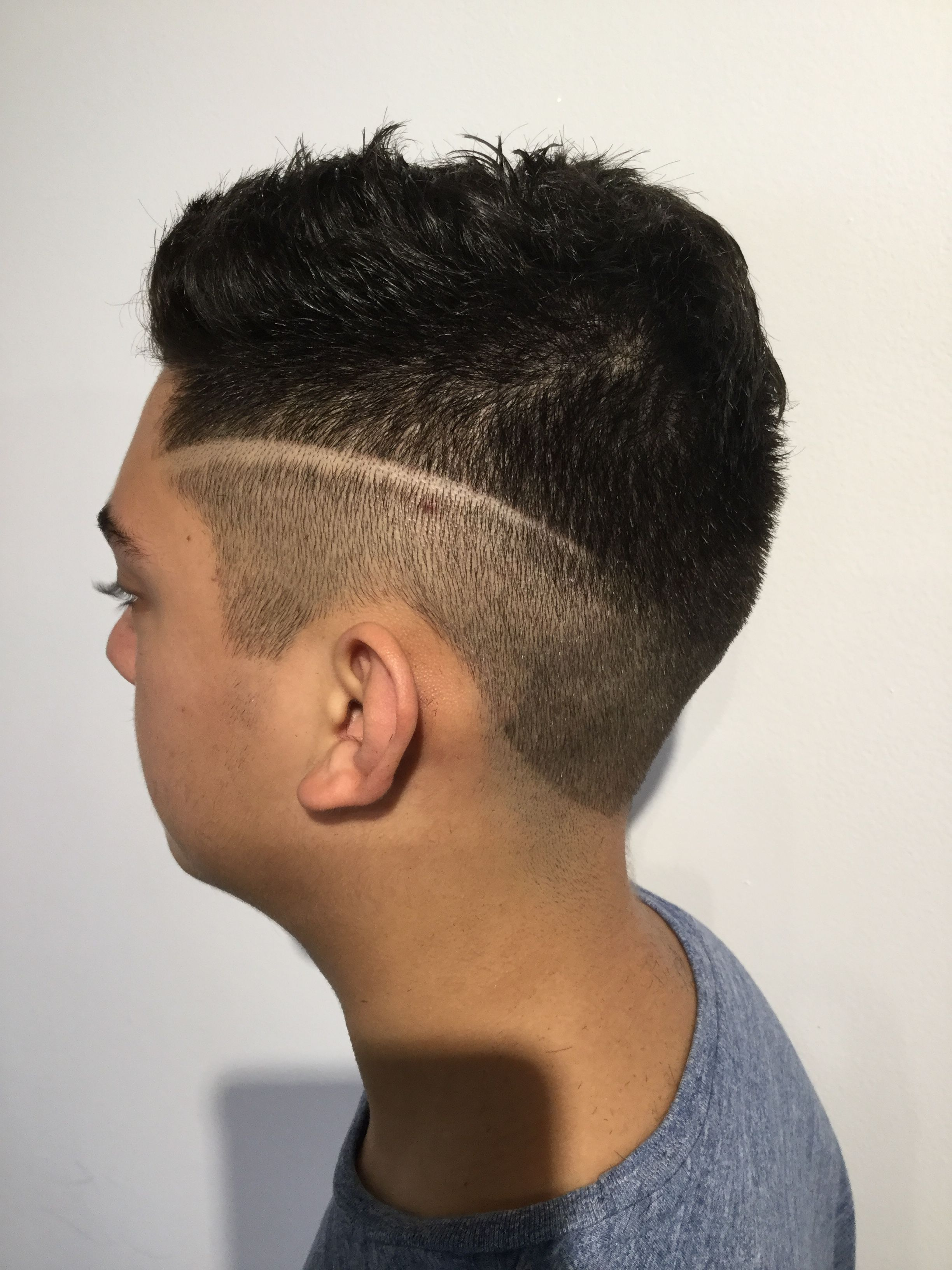 Fade Haircut With Line Design : haircut, design, Men's, Haircuts