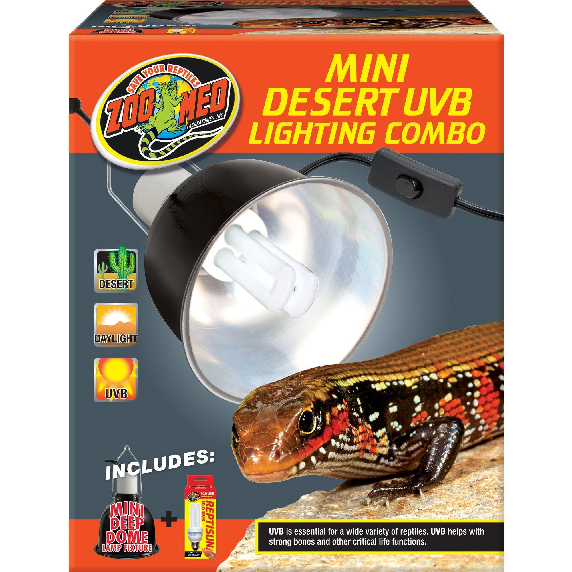 Zoo Med Mini Desert Uvb Lighting Single Combo 100 Watt