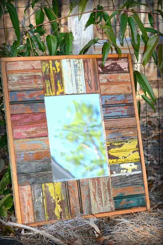 Rectangular Reclaimed Beadboard Mirror Cottage Shabby Chic | DIY FUN ...