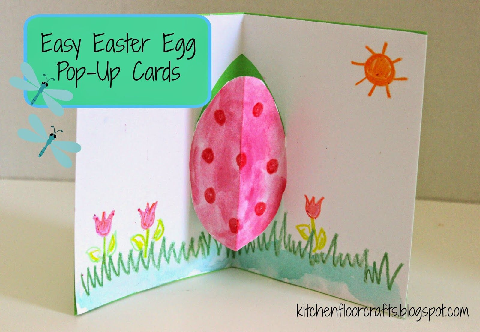 Kitchen floor crafts easy easter egg pop up card cards gifts ideas on how to make pop up greeting cards for birthdays valentines day mothers or fathers day pop up card ideas tutorials templates kristyandbryce Gallery