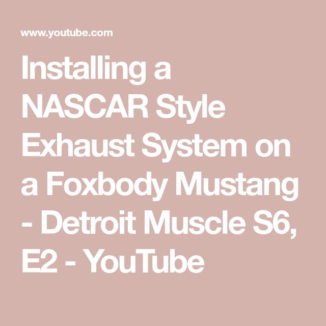 Mustang Nascar Exhaust