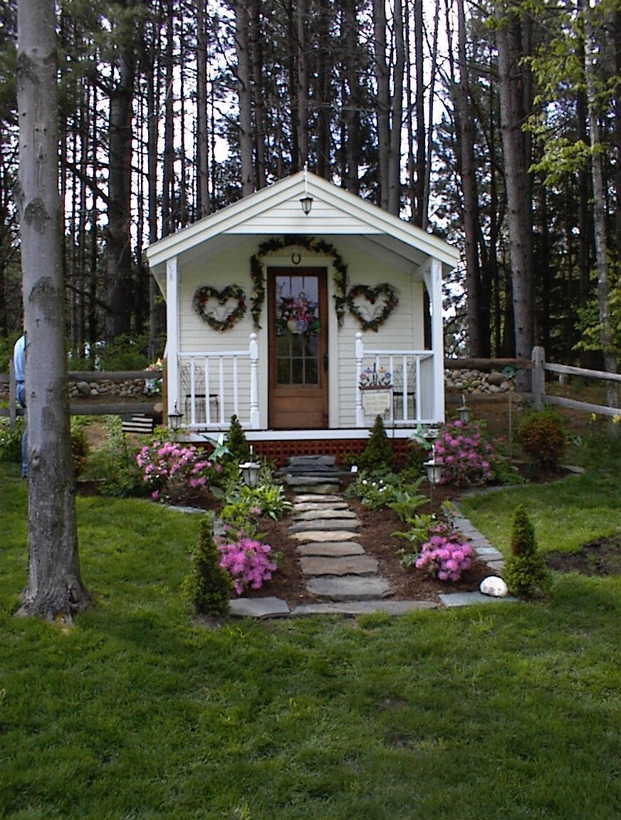 The Cutest She Shed 10x16 Cottage Includes Quaint Porch