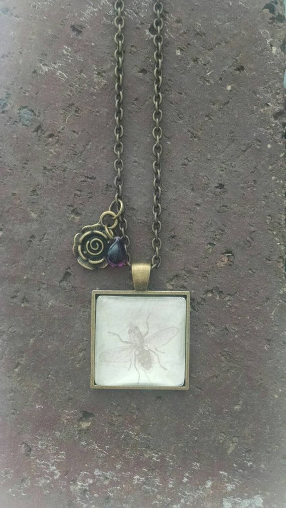 Bee Pendant Necklace Insect Pendant by CreatingwithColleen on Etsy