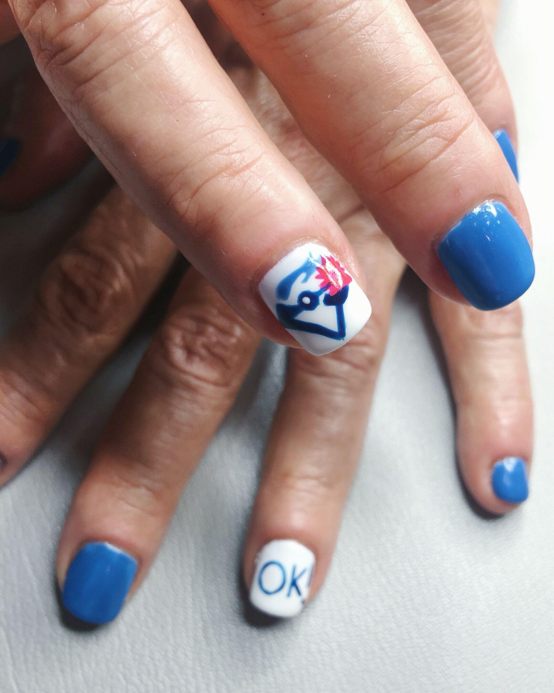 Toronto Blue Jays Nail Art