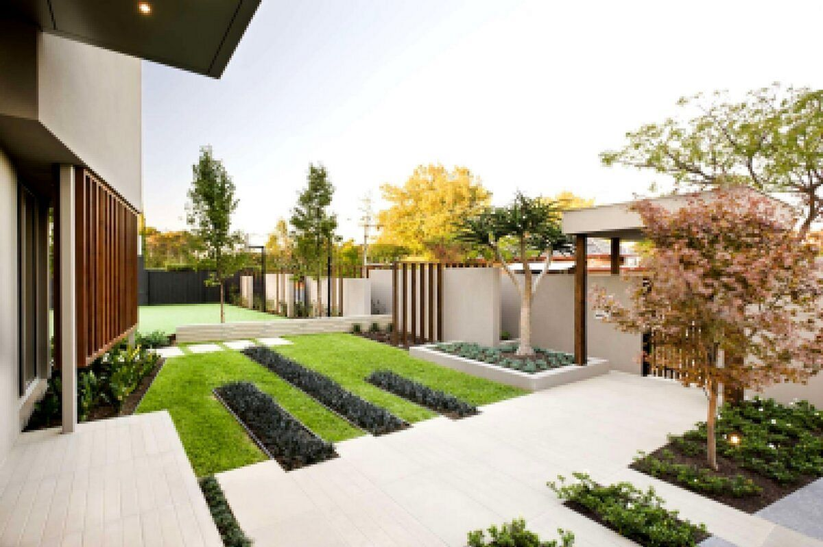 12 Cool Modern Front Yard Design Ideas You Have To See Freshouz Com Minimalist Garden Front Yard Design Modern Garden Front yard modern landscaping ideas