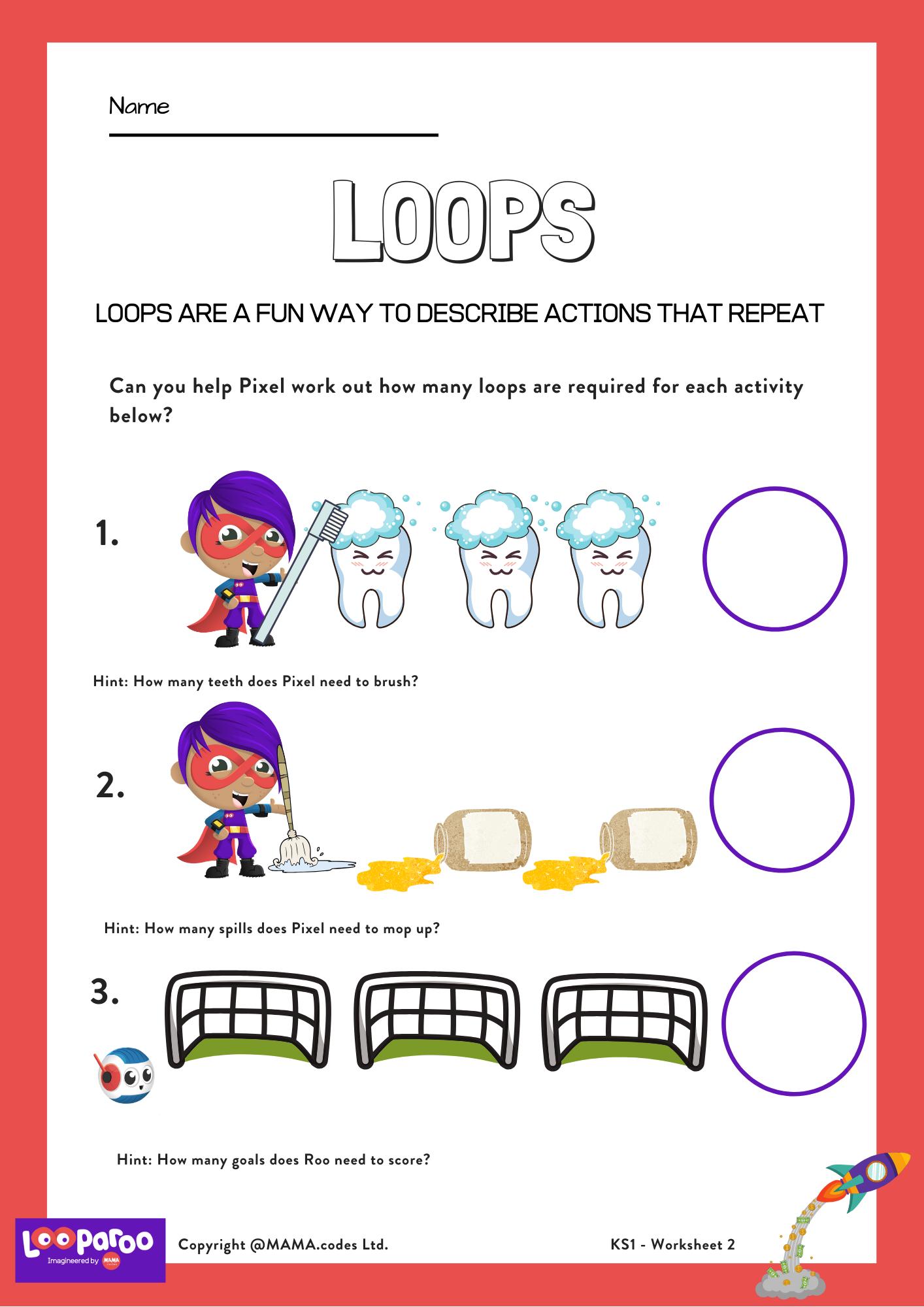 Loops Worksheet In 2021 Teaching Coding Education Coding [ 2000 x 1414 Pixel ]