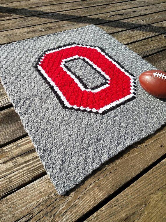 Hey, I found this really awesome Etsy listing at https://www.etsy.com/listing/285440077/ohio-state-crochet-blanket-crochet-osu