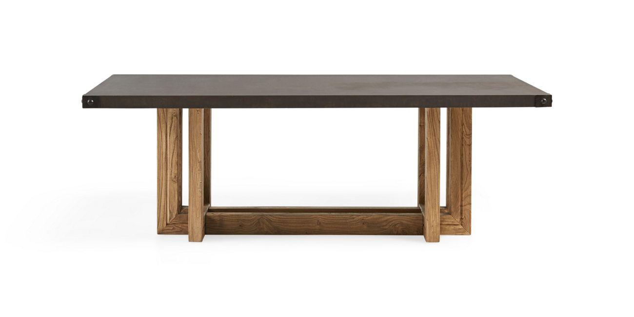 Adler rivet outdoor dining table arhaus furniture dining table outdoor dining home living