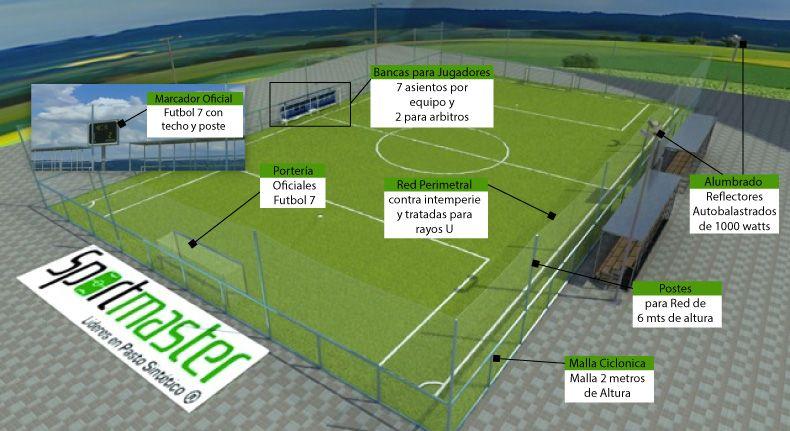dfe8074f0375a VENTA DE PASTO SINTETICO - Sportmaster.com.mx - Canchas - Futbol 7 ...