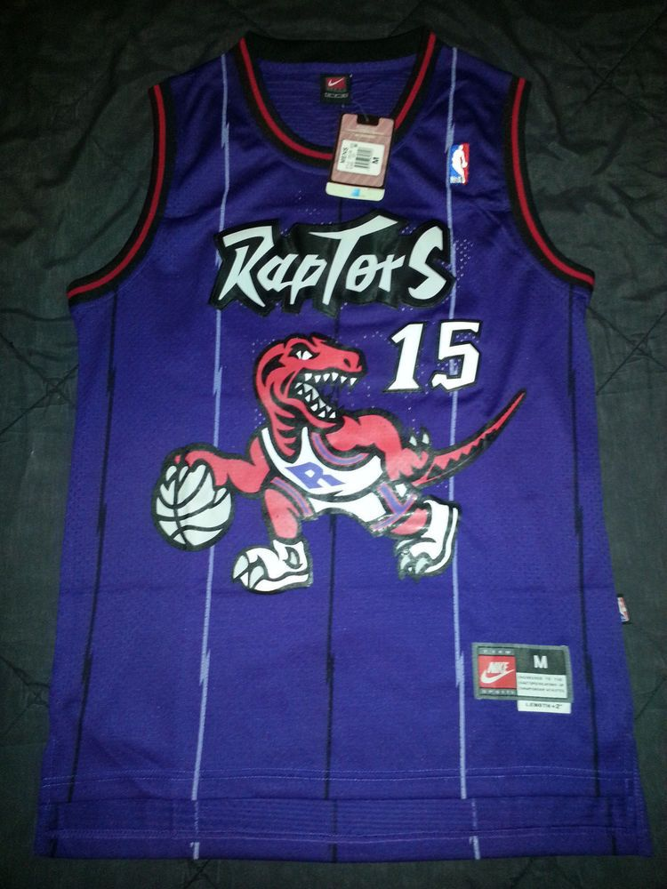 buy online a6cc4 bb9c8 NWT Vince Carter Toronto Raptors Jersey NBA Throwback Purple ...