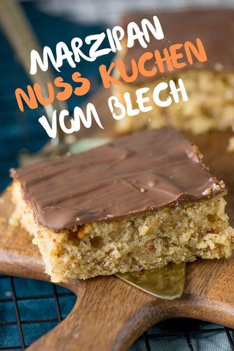 Saftiger Marzipan Nuss Kuchen vom Blech #simplecheesecakerecipe