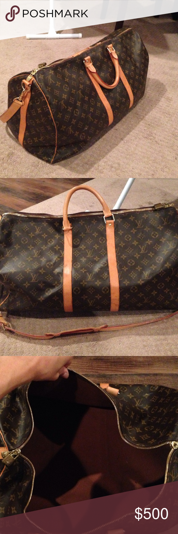 3147ebef1c79 Louis Vuitton Duffle Bag Authentic LV duffle bag made in Paris. It s a few  years