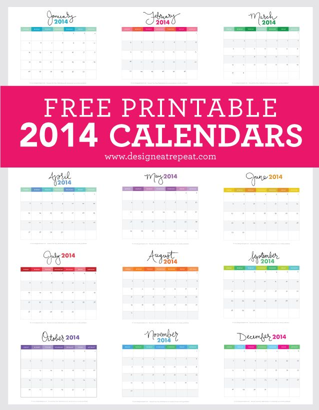 the best free printable 2014 calendars thesassylife
