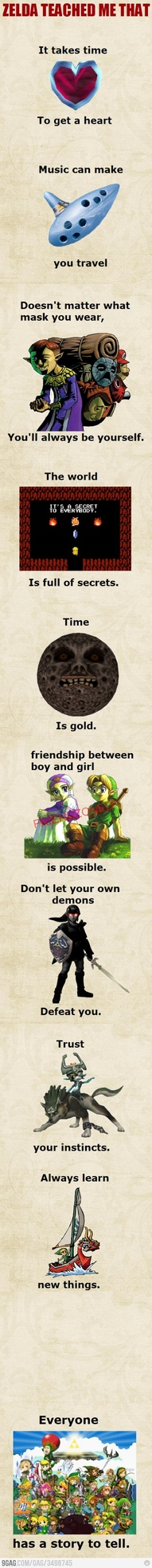 just......legend of zelda... It has a lesson and it is beautiful