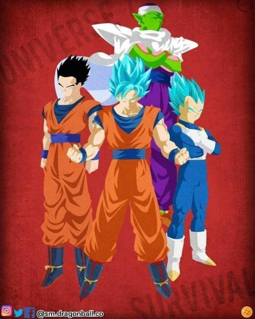 Gohan Goku Vegeta Piccolo Universo7 Dragon Ball Pinterest