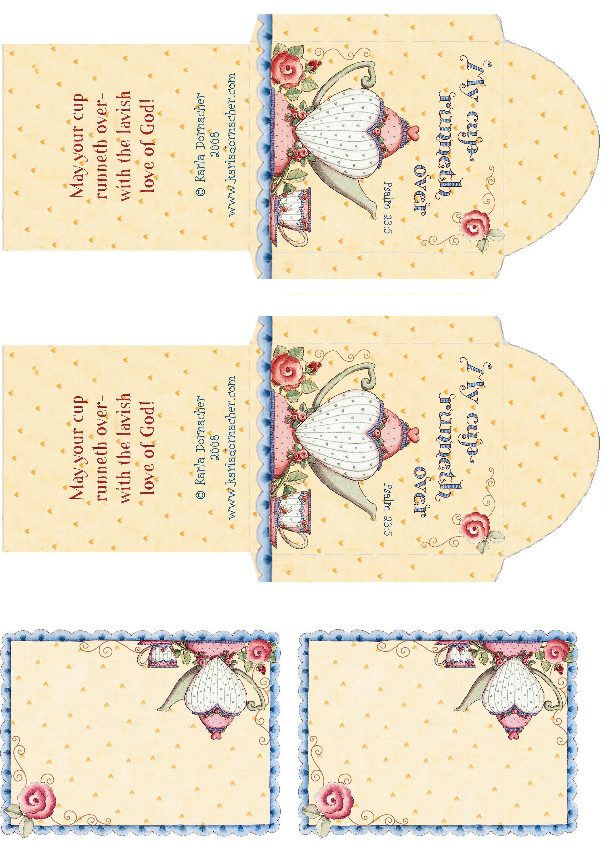 Karla S Art Printables Tea Crafts Tea Party Favors Tea Bag