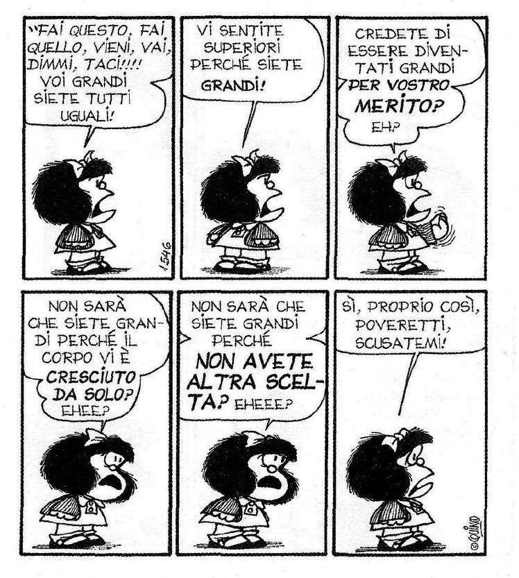 Exceptionnel Triste verità . ma cara Mafalda, volere o volare, toccherà  MG67