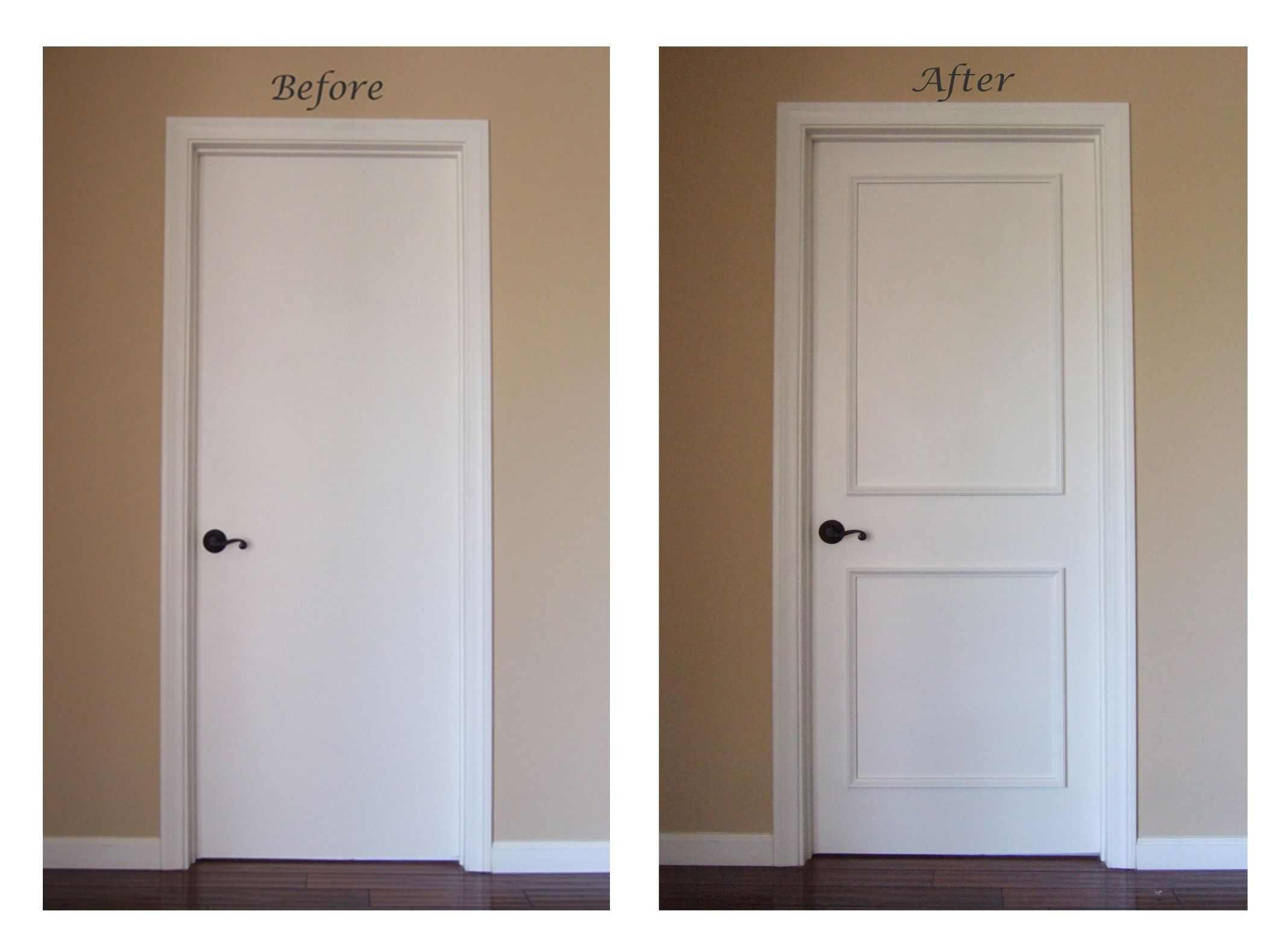 Interior doors with glass panel - Instant Two Panel Raised Door Moulding Kit Traditional Interior Doors Los Angeles By Luxe Architectural Just Use Molding