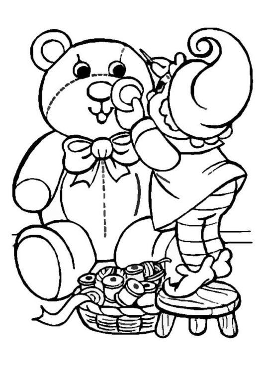 Malvorlage Elfe macht Spielzeug Dibujos de navidad para