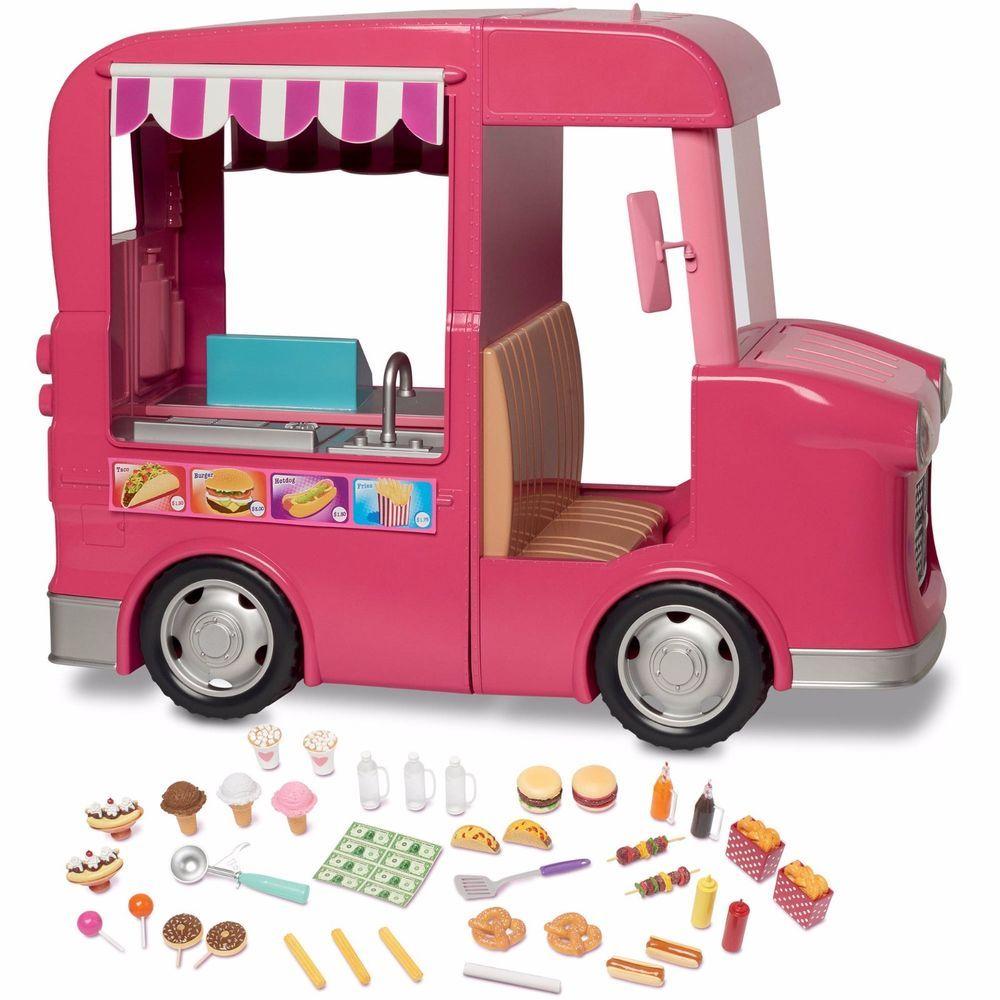 My Life Kids Food Truck Mini Food Toy Cart w Flip up