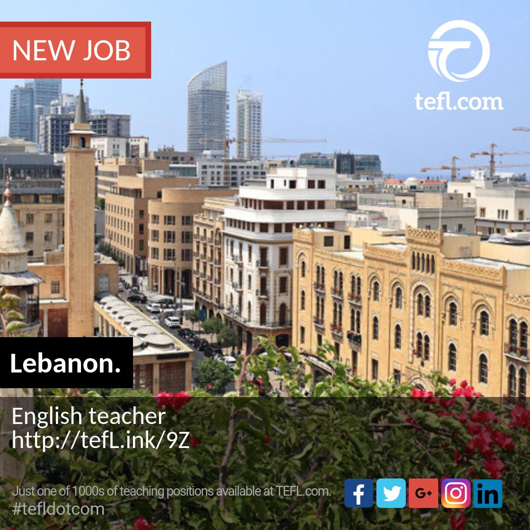 Lebanon   English #teacher #tefldotcom #beirut #tefl #teach