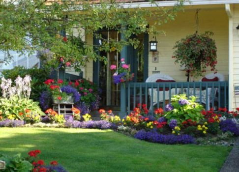 Delightful Cottage Garden And Porch 24 Pieces Front Yard Landscaping Design Front Yard Decor Small Backyard Landscaping