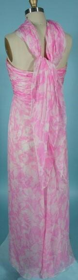 Oscar de la Renta pink floral chiffon