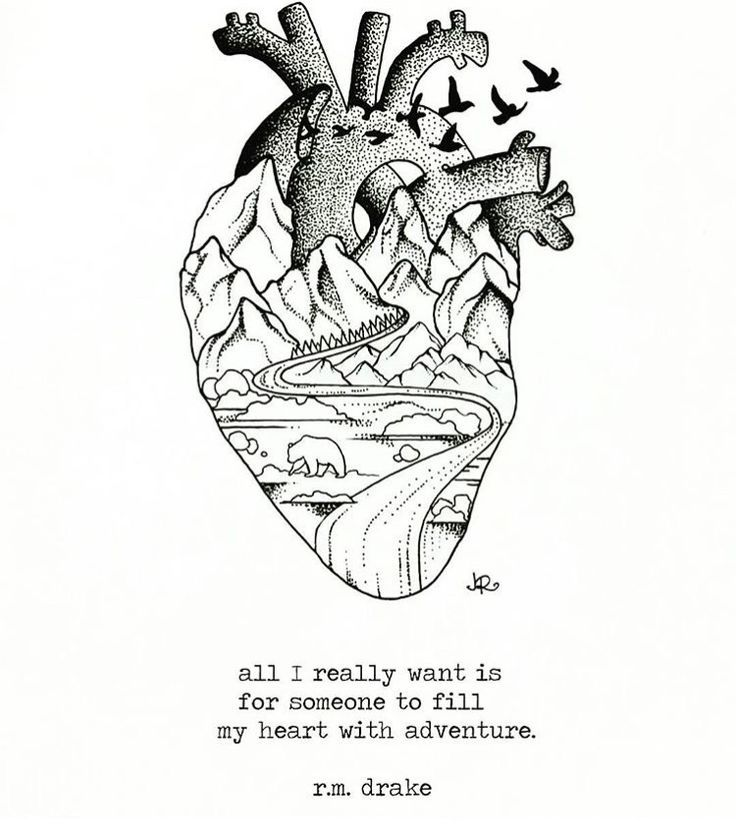 Tattoo Quotes Travel: Heart Full Of Adventure