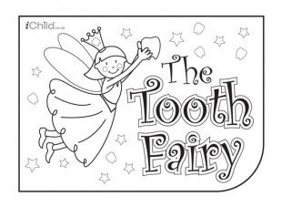 Tooth Fairy colouring in printable | Tooth Fairy | Pinterest ...