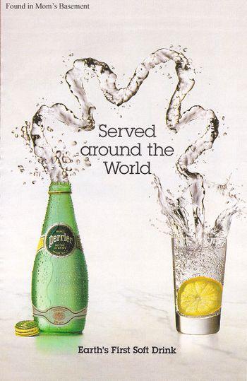 Publicite Advertising 1980 Perrier Eau Minérale Collectibles
