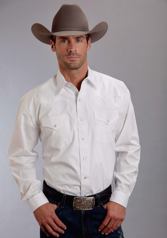 Stetson Mens White 100% Cotton Optic