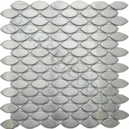 Sheet Size 11 1 X2f 2 Quot X 12 Quot Tile Size Leaftiles Per Sheet 96tile Thick With Images Stainless Steel Tile Backsplash Metal Tile Backsplash Stainless Steel Tile