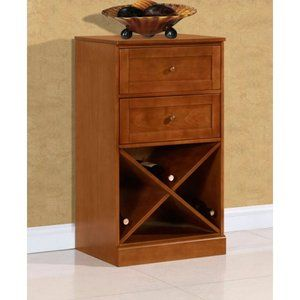 Lucca Home Storage with Drawers - Walnut