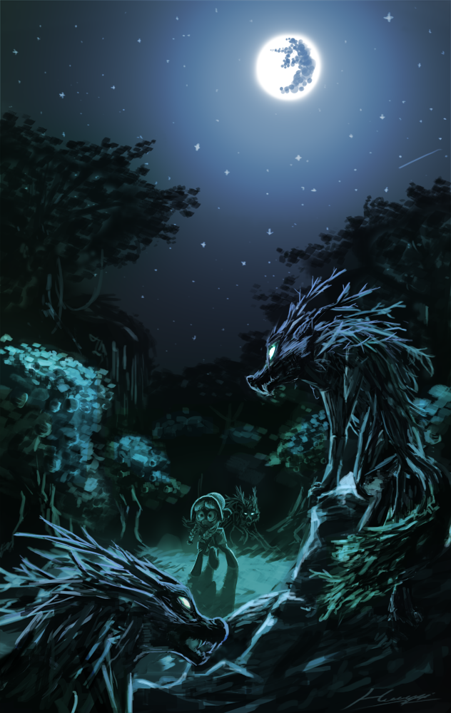 Howling in the hills by Huussii.deviantart.com on @DeviantArt