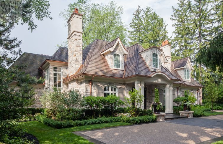 39 old oakville 39 custom home designed by david small for Custom french country house plans