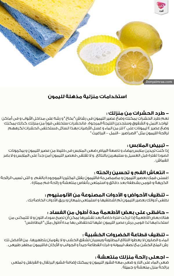 الليمون استخدامات منزلية منزل حفظ الأطعمة تنضيف دنيا امرأة كويت كويتيات كويتي دبي اﻻمارات ا House Cleaning Checklist Clean House Cleaning Checklist