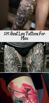 Photo of 125 Best Leg Tattoos For Men – Tattoos and Body Art  Black and White Leg Tattoos…